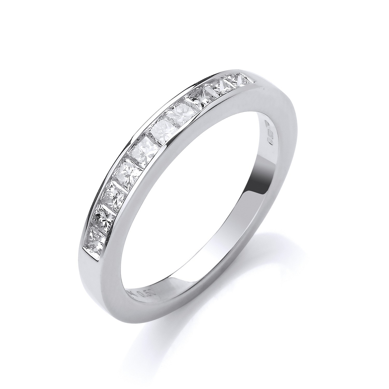18ct White Gold 0.50ctwPrincess Cut Diamond Eternity Ring
