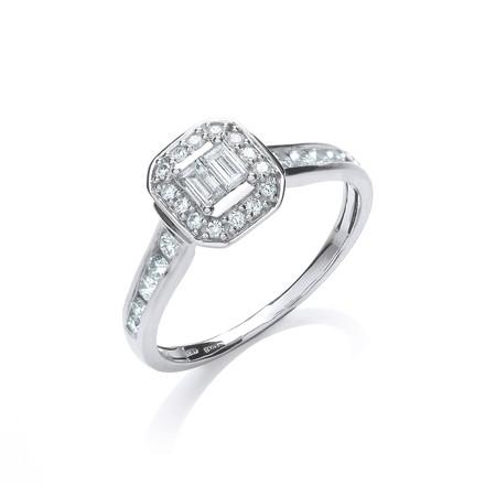 Selling: 18ct White Gold 0.55ct Diamond Dress Ring