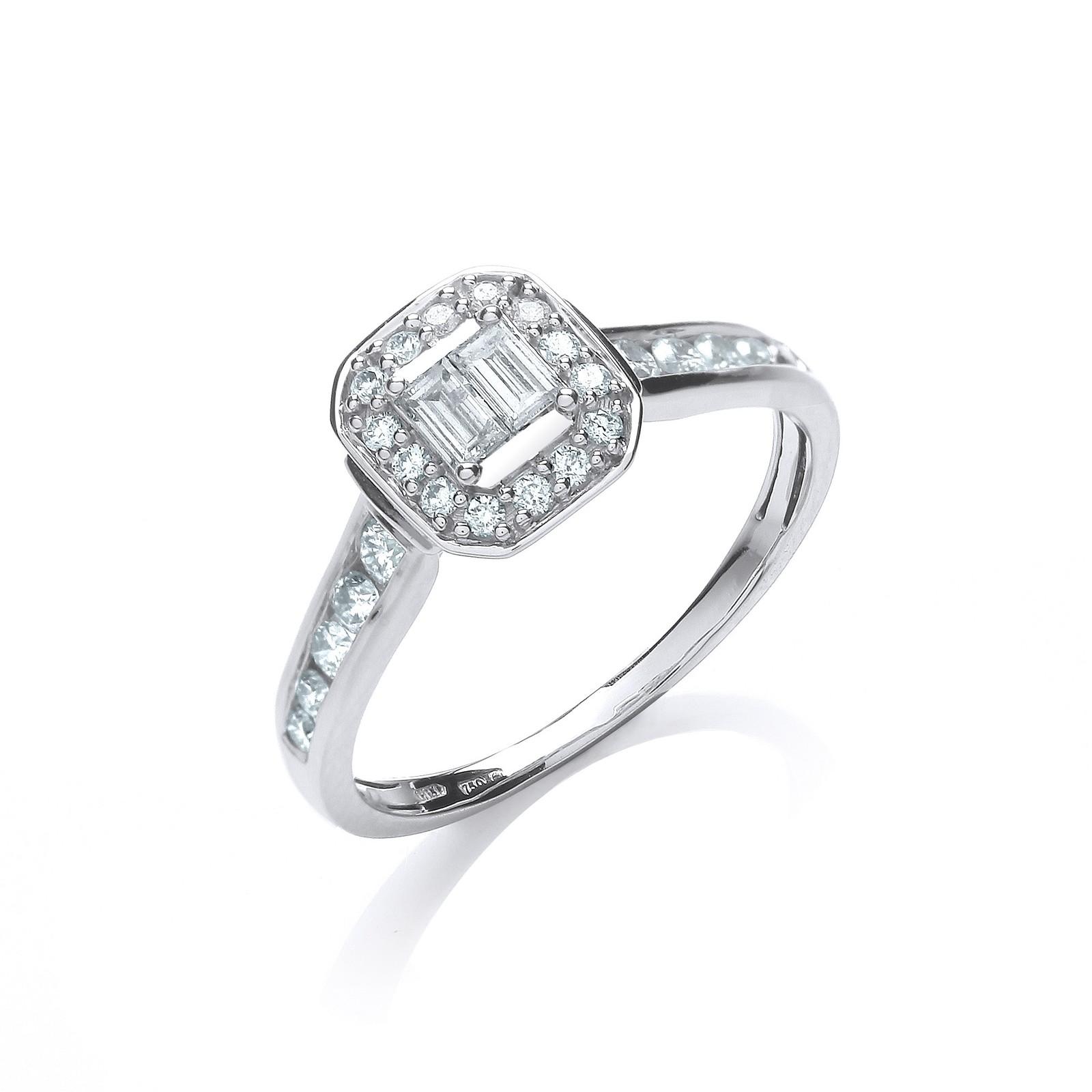 18ct White Gold 0.55ct Diamond Dress Ring