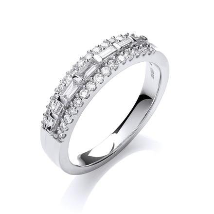 Selling: 18ct White Gold  0.50ct Diamond Half Eternity Ring