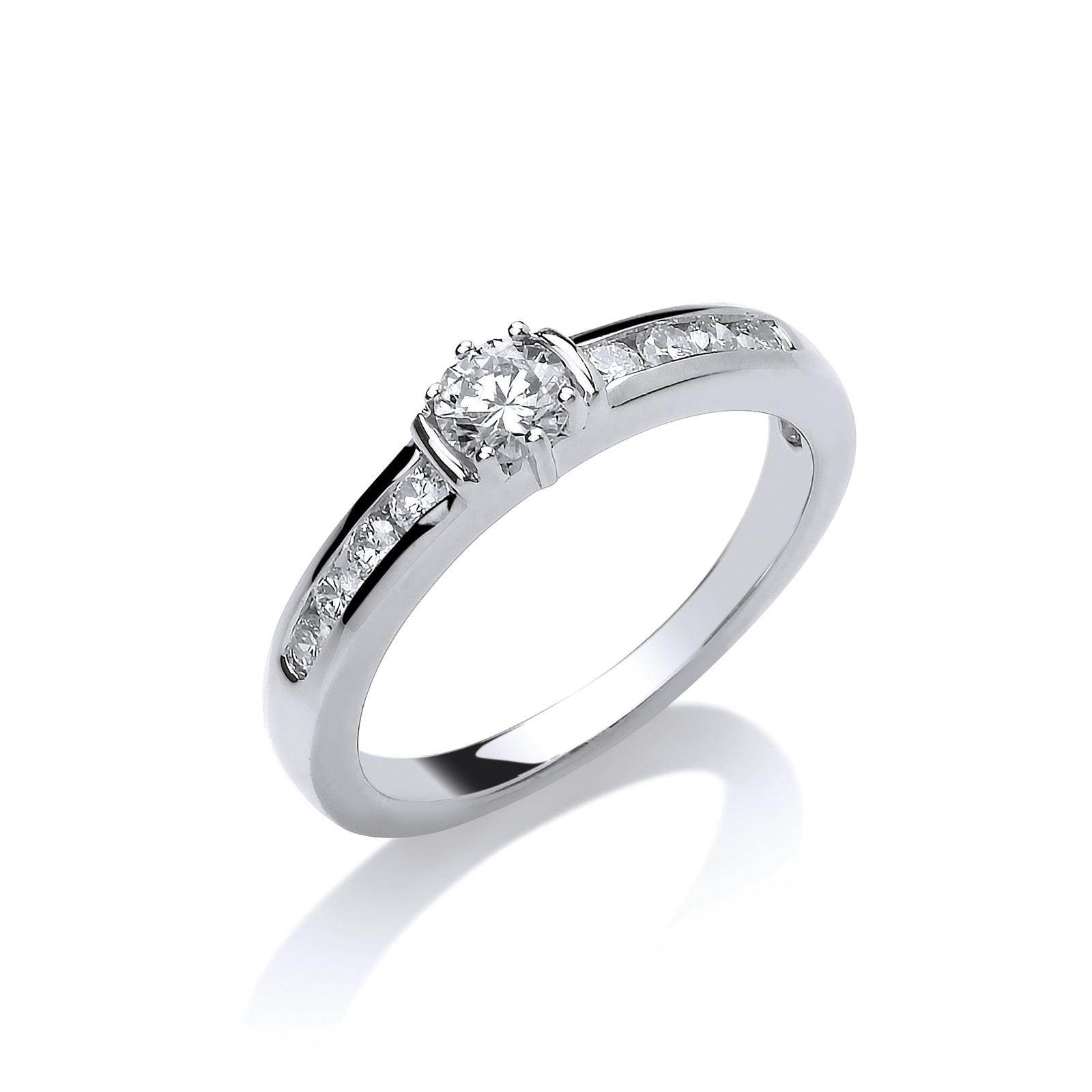 Platinum 0.50ct G/H-Si Diamond Ring