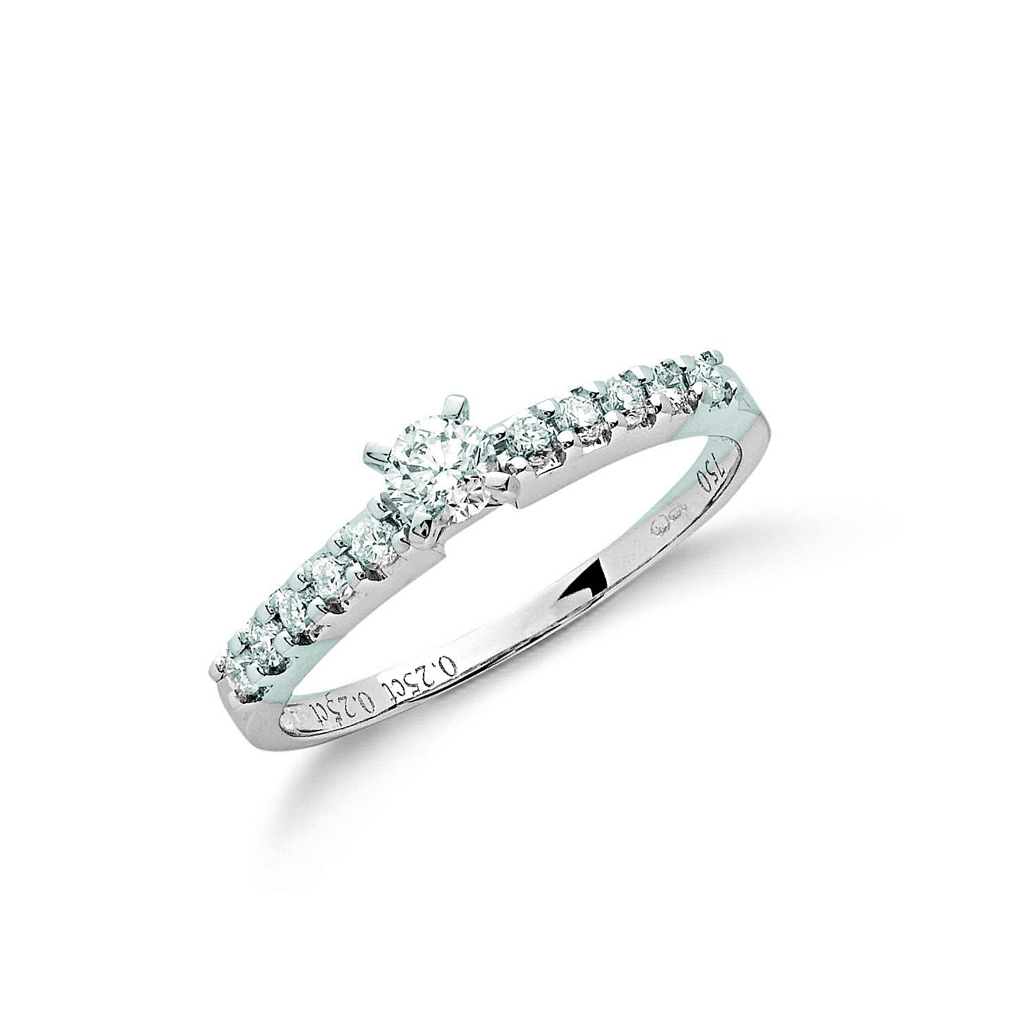 18ct White Gold 0.50ct Diamond Engagement Ring