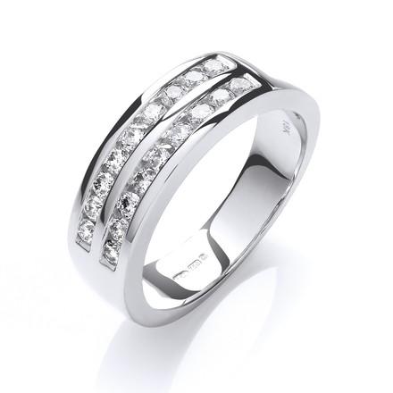 Selling: 18ct White Gold  D.0.50ctw Diamond Half Eternity Ring