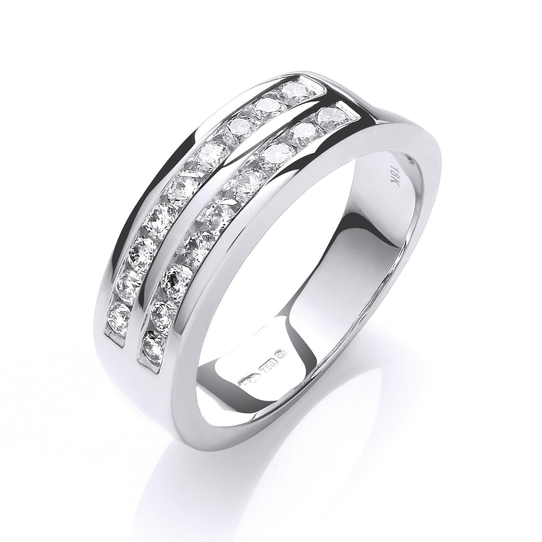 18ct White Gold  D.0.50ctw Diamond Half Eternity Ring