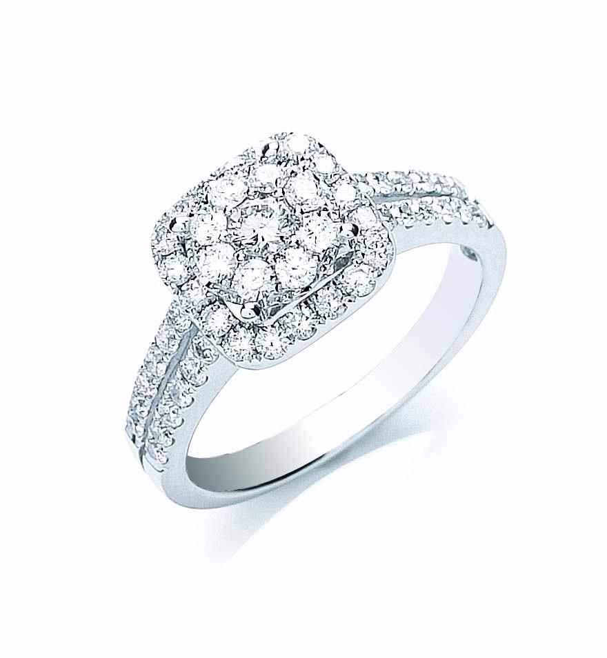 18ct White Gold 0.90ct Fancy Diamond Ring