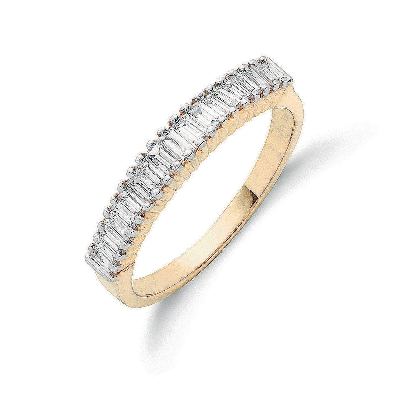 18ct Yellow Gold 0.50ctw Baguette Cut Diamond Eternity Ring