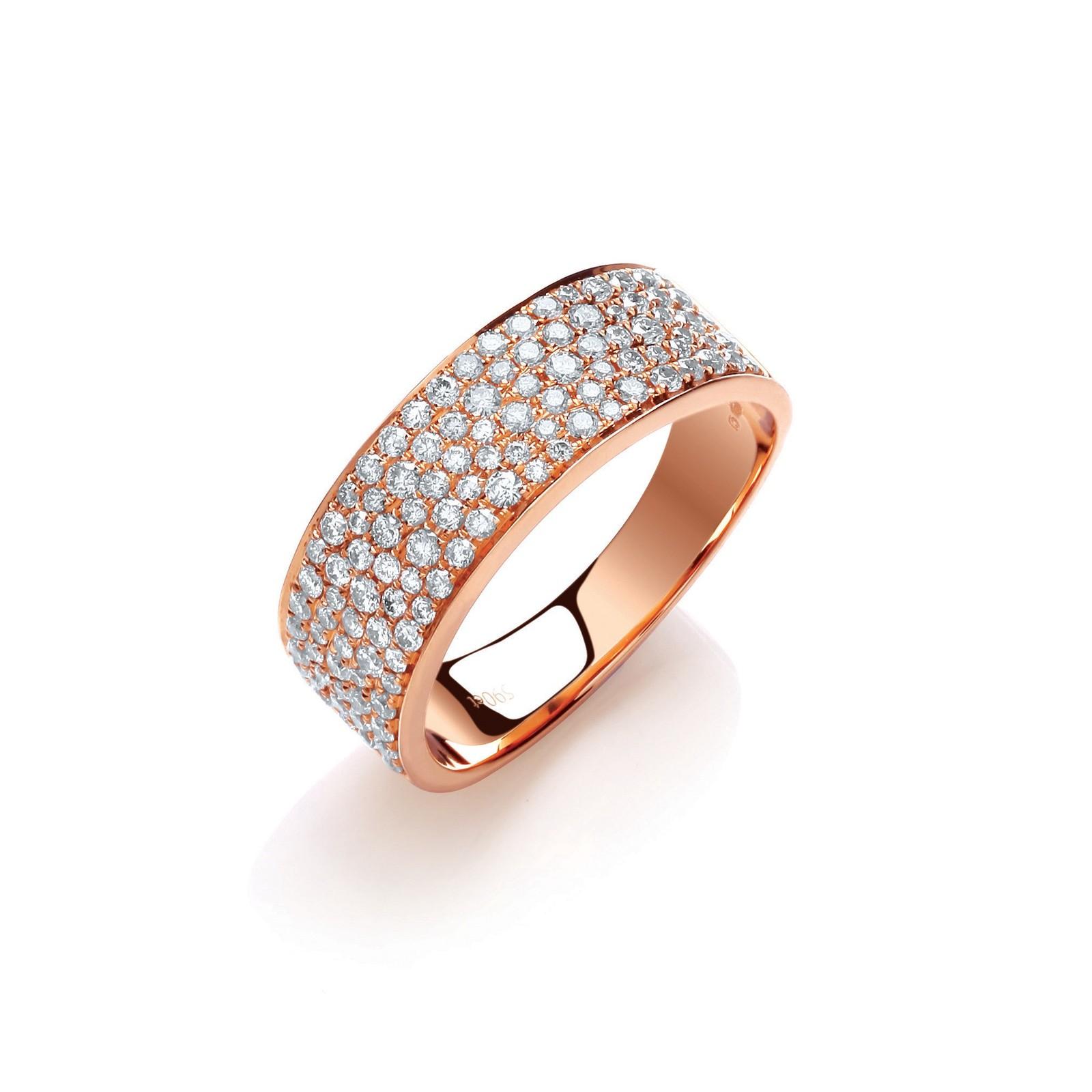 18ct Rose Gold 0.60ct Pave Set Ring