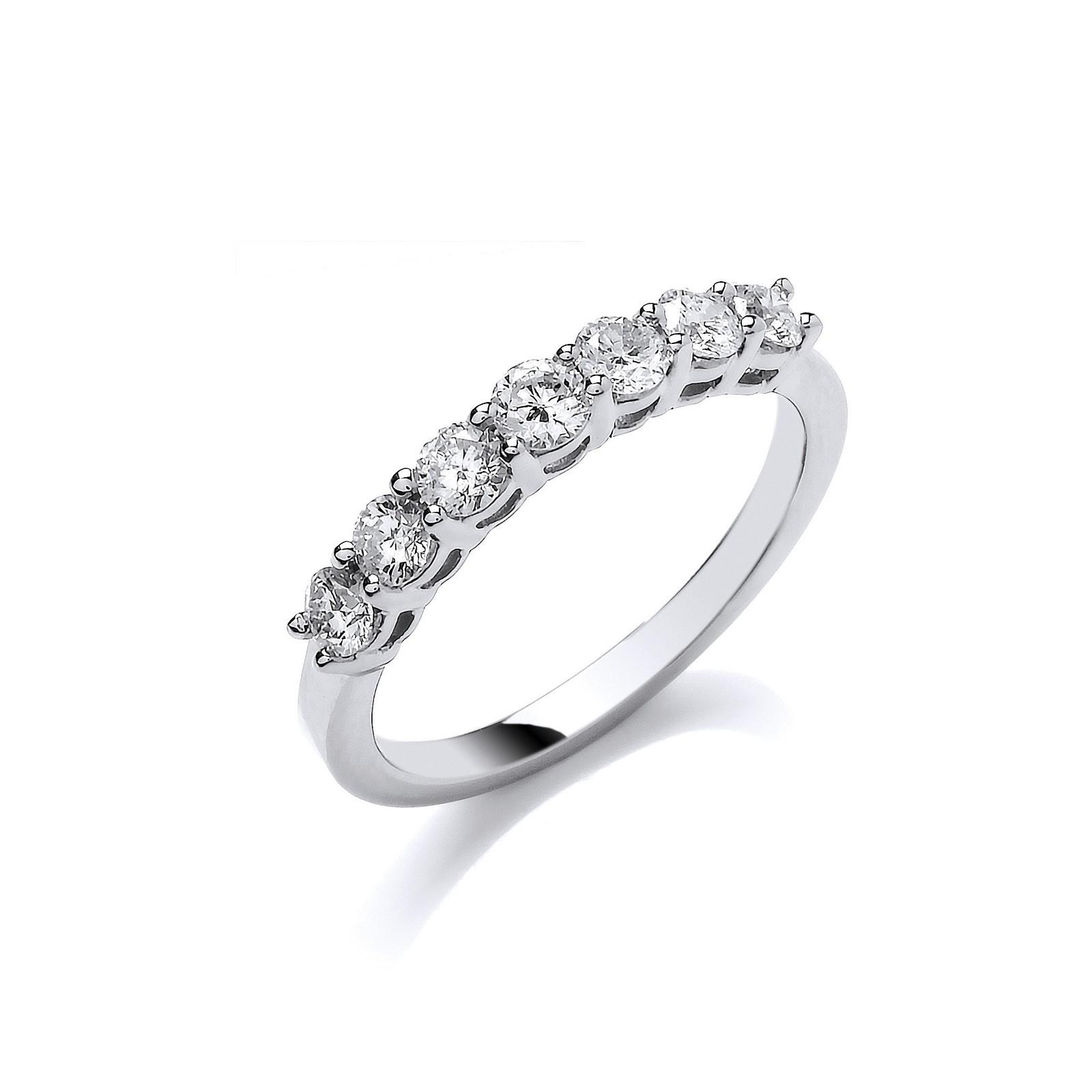 Platinum 0.70ct G/H-Vs Diamond Ring