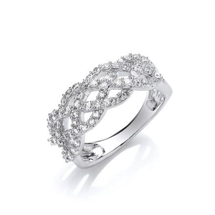 Selling: 18ct WG 0.75ct Weaved Diamond Dress Ring