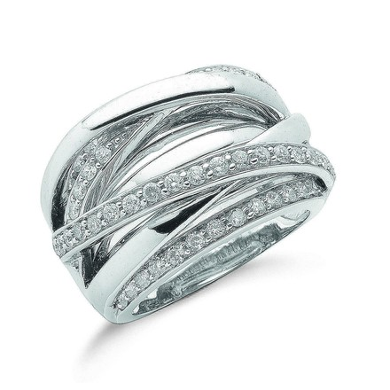 Selling: 9ct W/G 1.00ct Diamond Crossover Ring