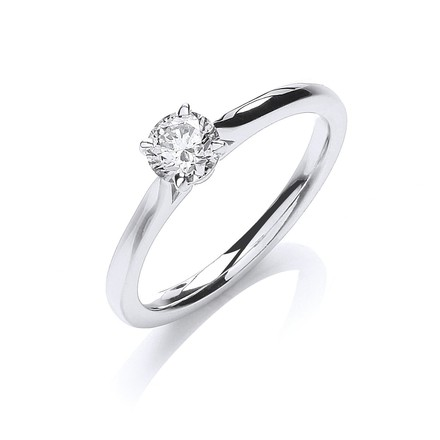 Selling: 18ct White Gold 0.40ct Certificated Solitaire Ring