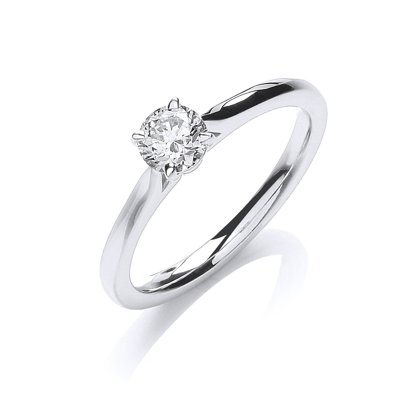 18ct White Gold 0.40ct Certificated Solitaire Ring