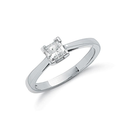 Selling: Platinum 0.50ct G/H-Si Princess Cut Diamond Engagement Ring