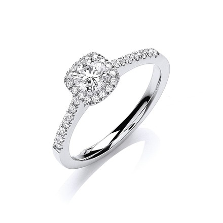 Selling: 18ct White Gold 0.50ctw Certificated Engagement Ring