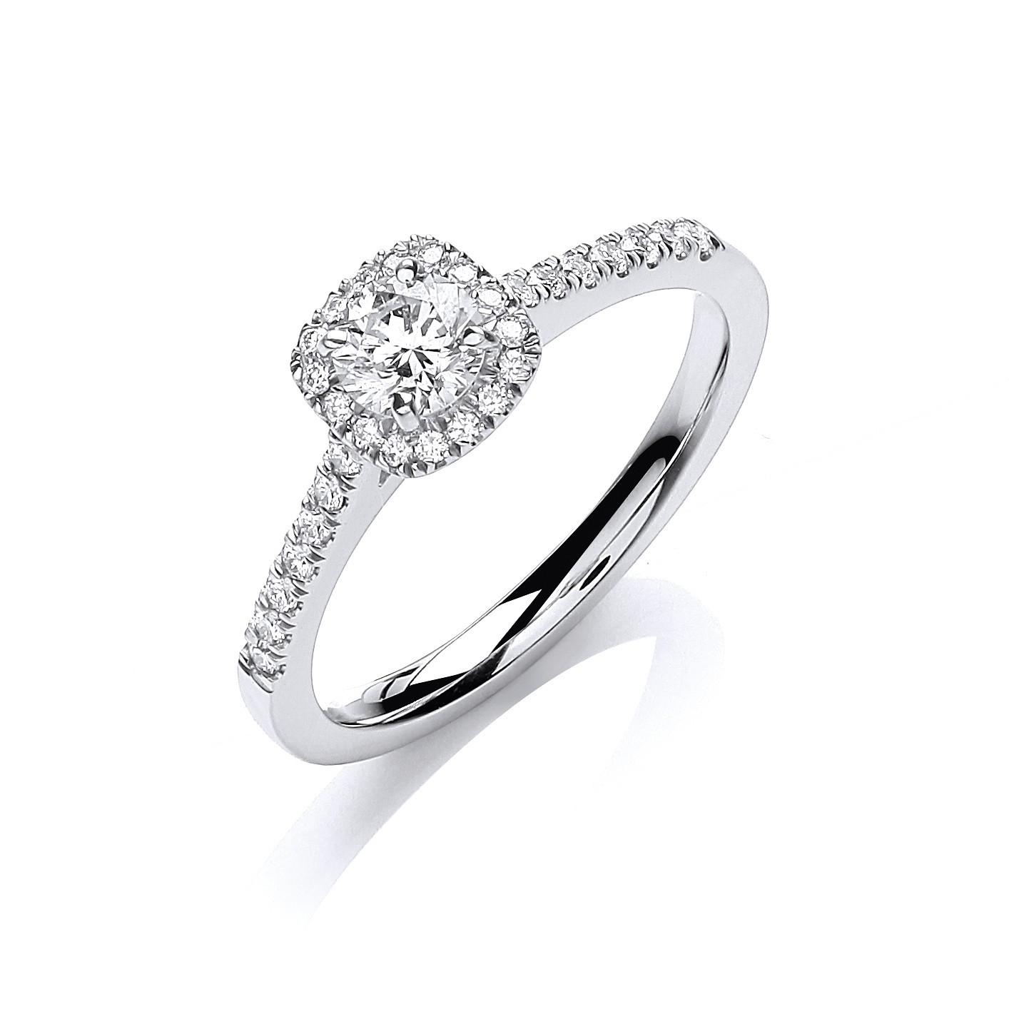 18ct White Gold 0.50ctw Certificated Engagement Ring