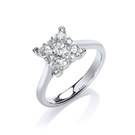 Selling: 18ct White Gold 0.70ct GH-SI Engagement Ring