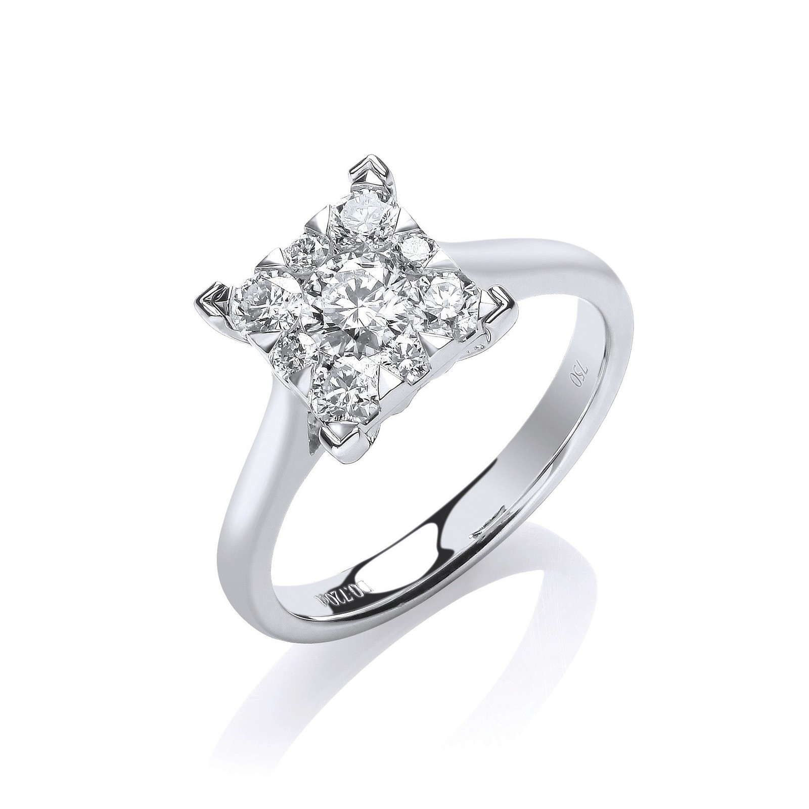 18ct White Gold 0.70ct GH-SI Engagement Ring