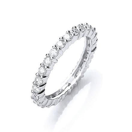 Selling: Platinum 1.00ct G/H-Vs Full Diamond Eternity Ring