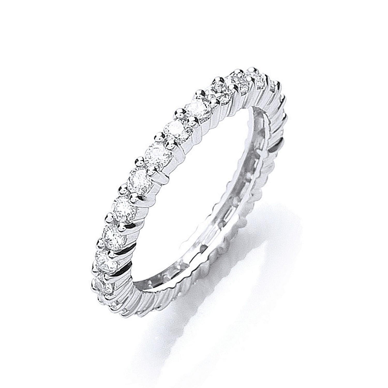Platinum 1.00ct G/H-Vs Full Diamond Eternity Ring