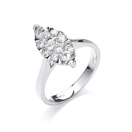 Selling: 18ct White Gold 0.75ct Diamond Dress Ring