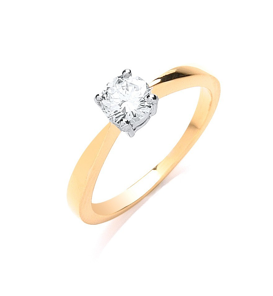 18ct Yellow Gold 0.50ct Diamond Engagement Ring