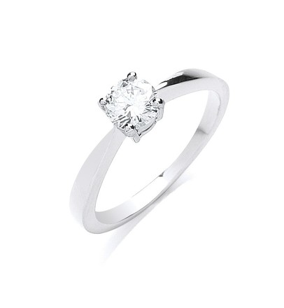 Selling: 18ct White Gold 0.50ct Diamond Engagement Ring