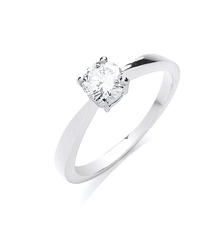 18ct White Gold 0.50ct Diamond Engagement Ring