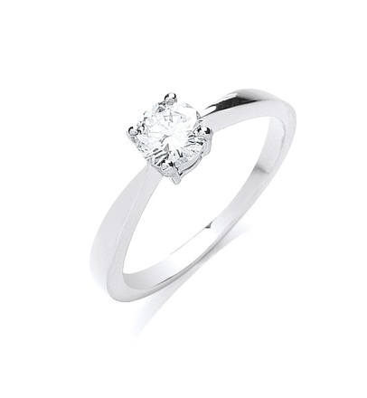 Selling: Platinum 0.50ct G/H-Si Diamond Engagement Ring