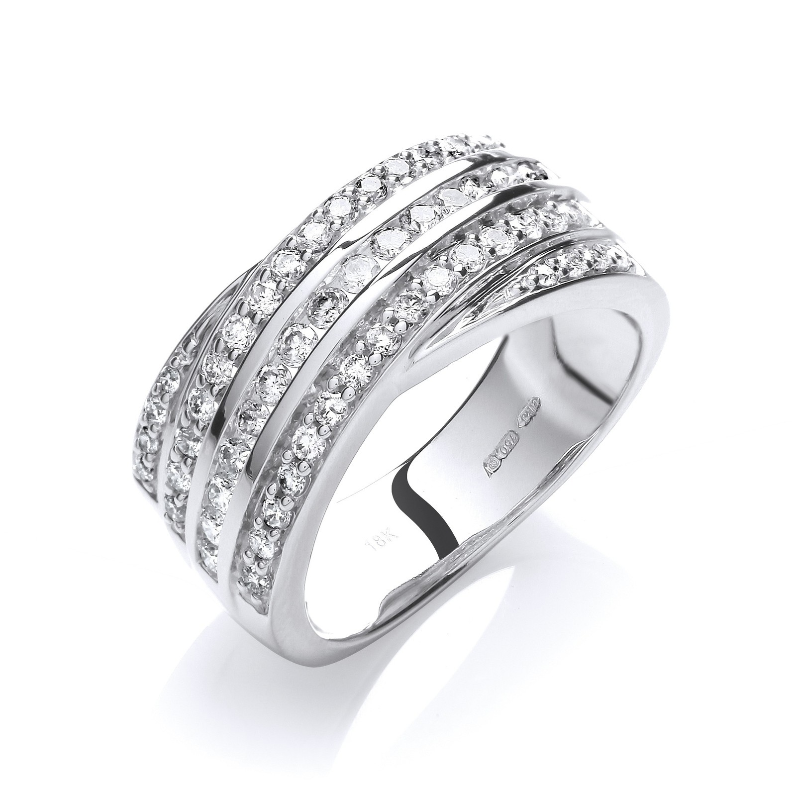 18ct White Gold 0.75ctw Diamond Ring