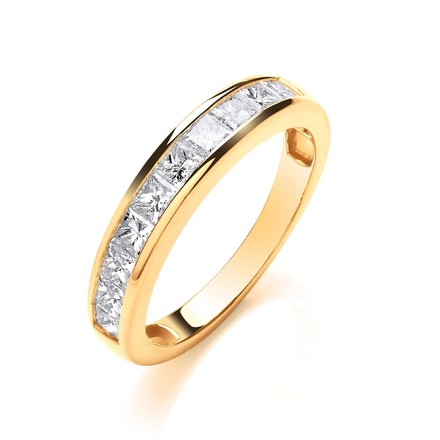 Selling: 18ct Yellow Gold 1.00ctw Princess Cut Diamond Eternity Ring