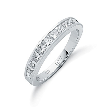 Selling: 18ct White Gold 1.00ctw Princess Cut Diamond Eternity Ring