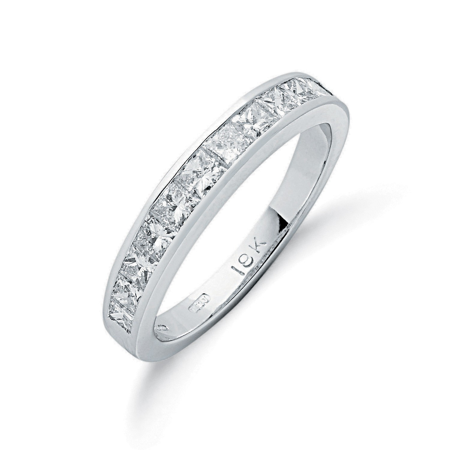 18ct White Gold 1.00ctw Princess Cut Diamond Eternity Ring
