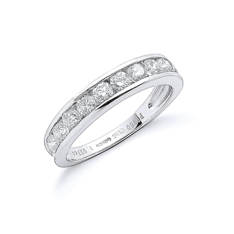 Platinum 1.00ct G/H-Vs Diamond Eternity Ring