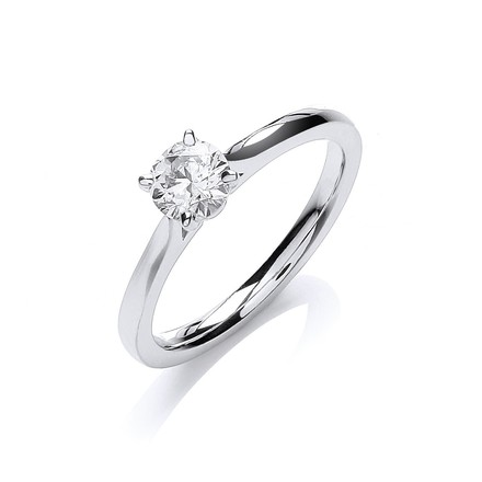 Selling: 18ct White Gold 0.50ct Certificated Engagement Ring
