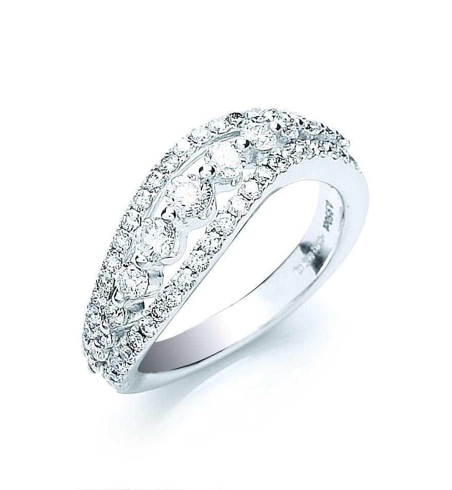 18ct White Gold 0.95ctw Fancy Diamond Ring