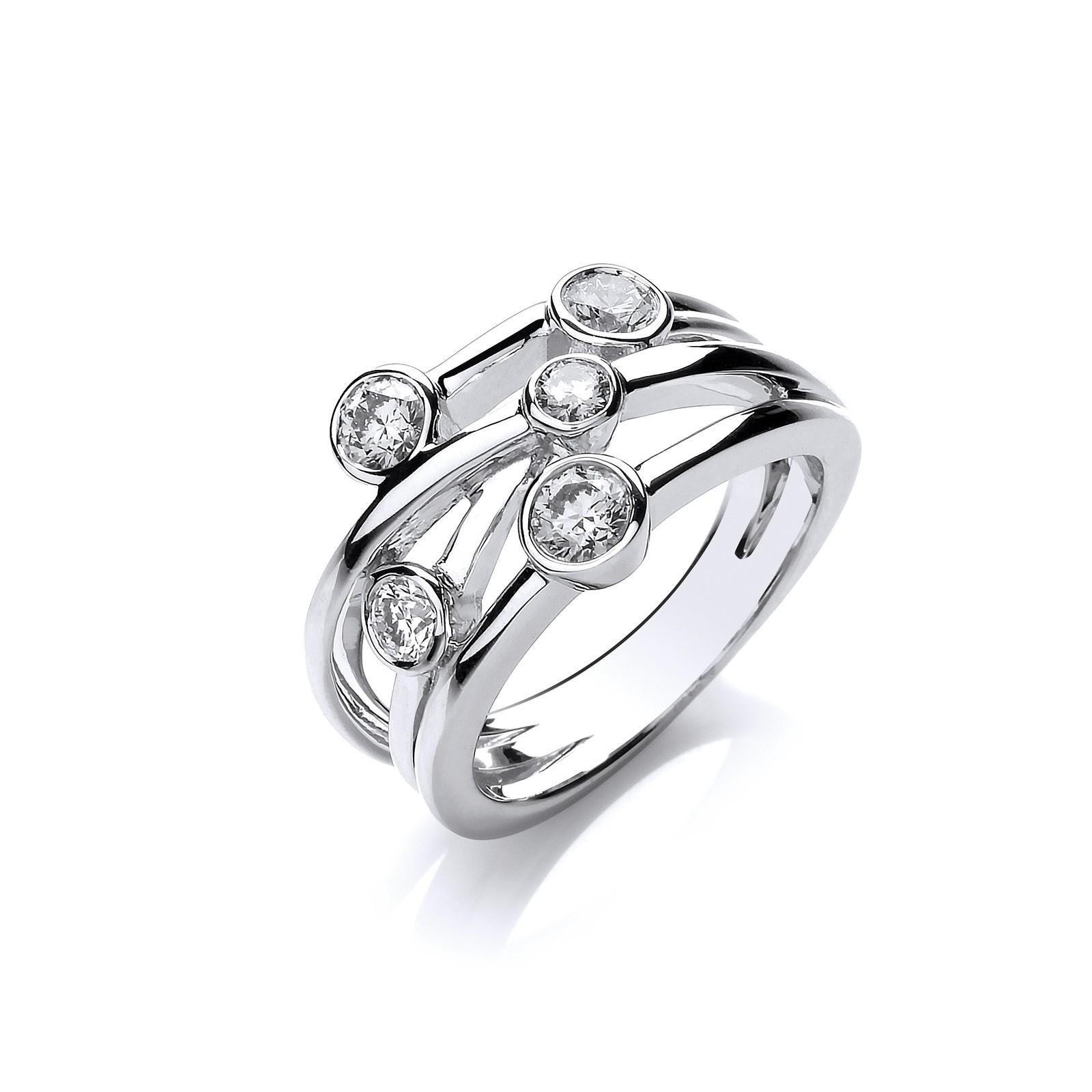 18ct White Gold 0.75ct GH-SI Diamond Dress Ring
