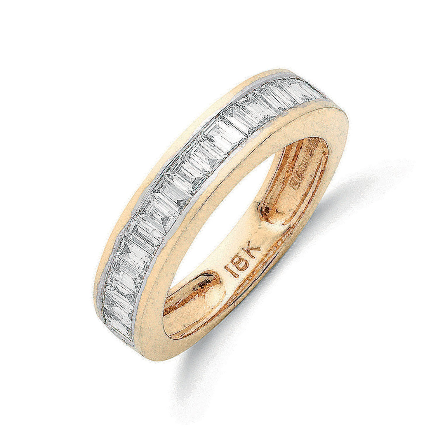 18ct Yellow Gold 1.00ctw Baguette Cut Diamond Eternity Ring