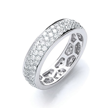 Selling: 18ct White Gold 1.40ct Pave Set Full ET Ring