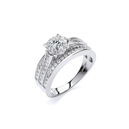 Selling: 18ct White Gold 1.00ct Diamond Dress Ring