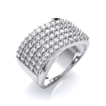 Selling: 18ct White Gold  1.00ctw Diamond Half Eternity Ring