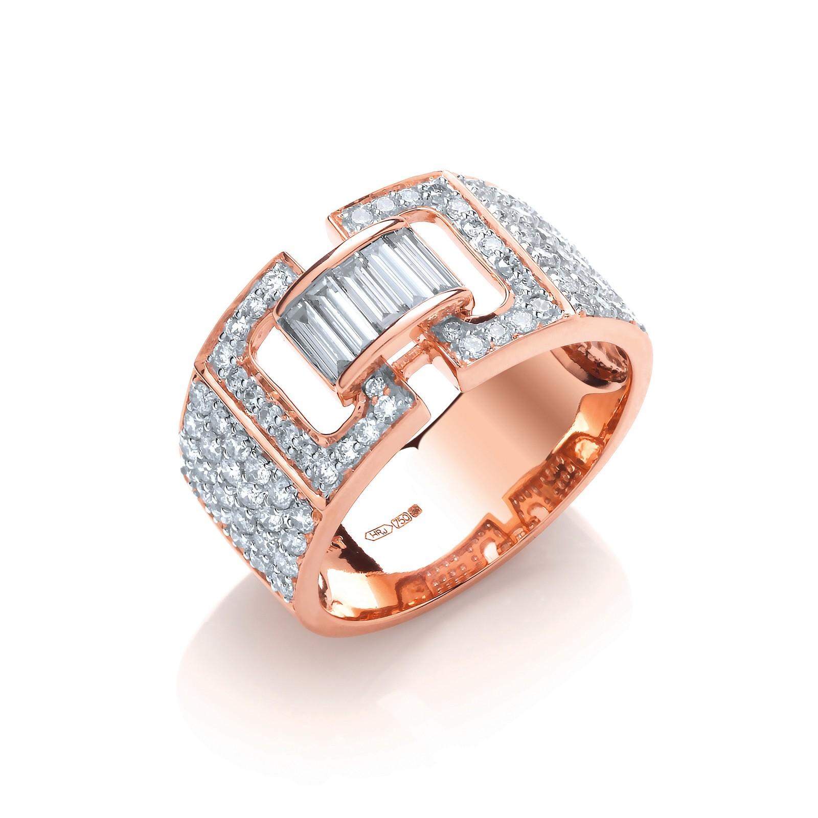 18ct Rose Gold 1.15ctw Diamond Ring