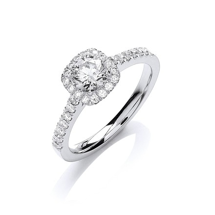 Selling: 18ct White Gold 0.80ctw Certificated Engagement Ring