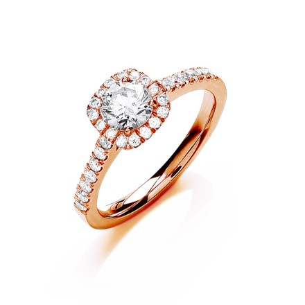 Selling: 18ct Rose Gold 0.80ctw Certificated Engagement Ring