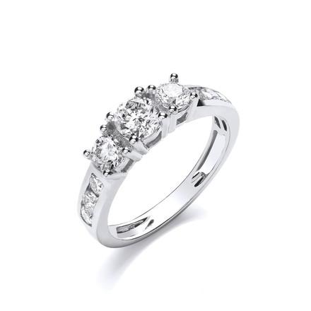 Selling: 18ct White 1.00ct Diamond Ring