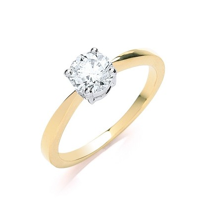 Selling: 18ct Yellow Gold 0.70ct Diamond Engagement Ring