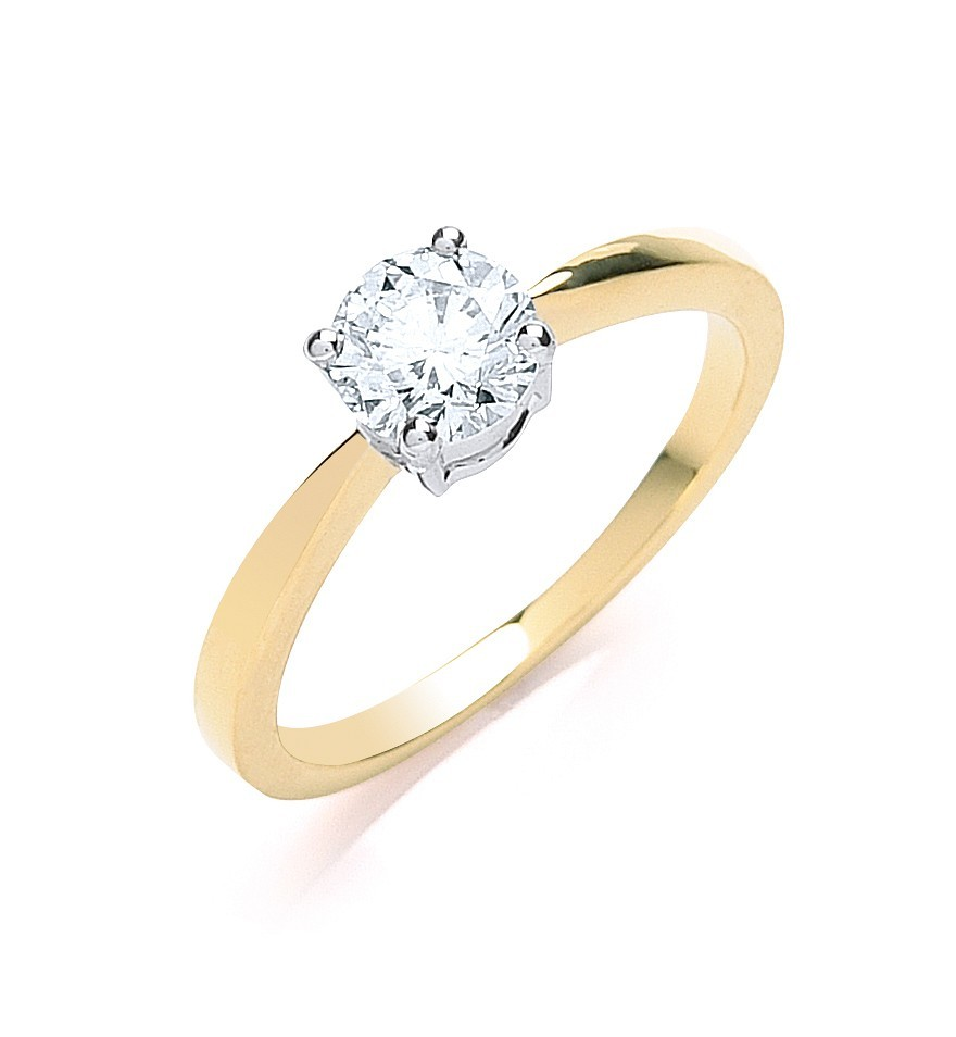 18ct Yellow Gold 0.70ct Diamond Engagement Ring