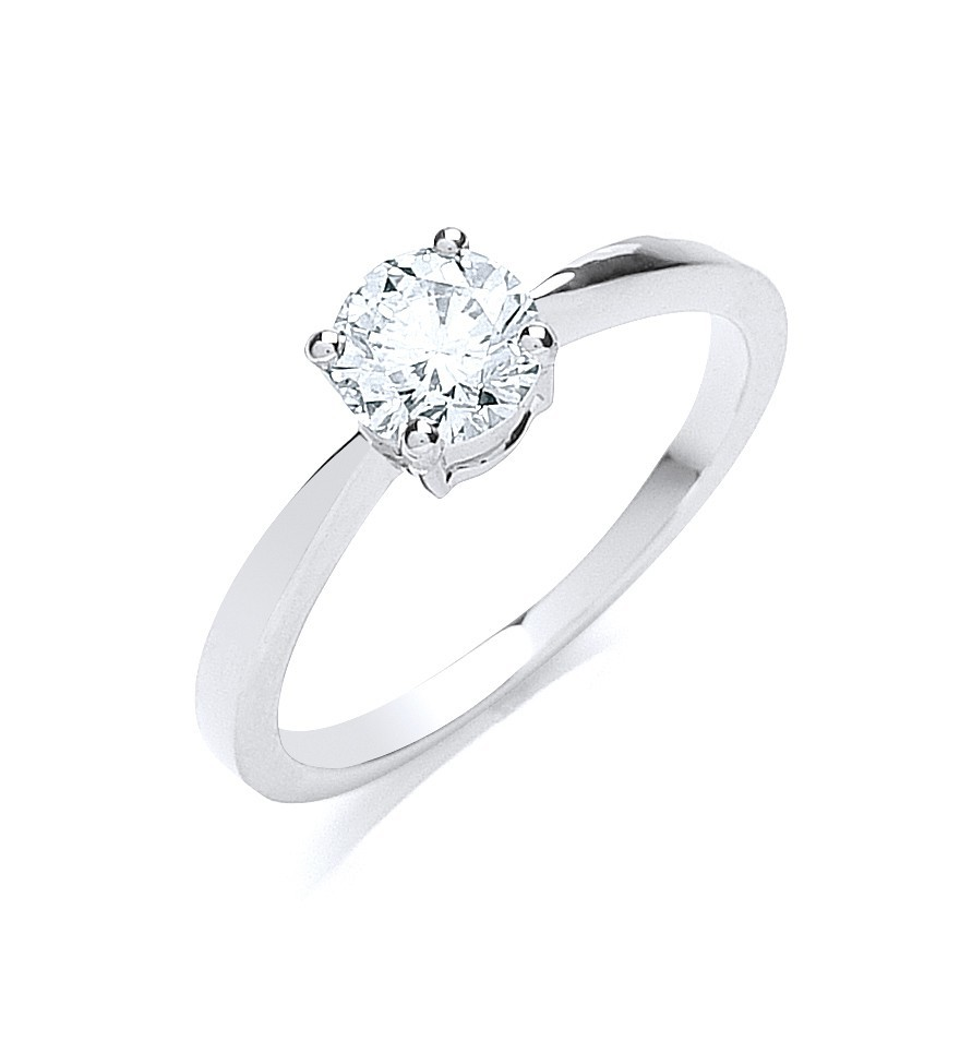 18ct White Gold 0.70ct Diamond Engagement Ring