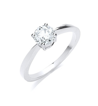 Selling: Platinum 0.70ct G/H-Si Diamond Engagement Ring