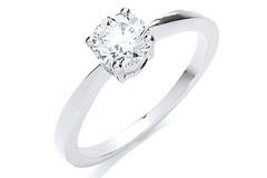 Platinum 0.70ct G/H-Si Diamond Engagement Ring
