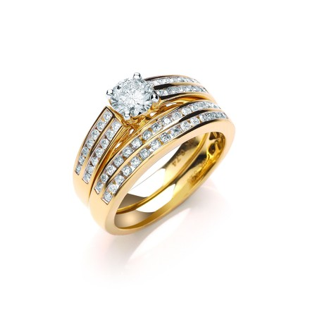 Selling: 18ct Yellow Gold 1.00ct Fancy Bridal Set